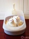 貓砂盆半封閉式大號貓廁所小號貓沙盆貓屎盆貓咪清潔用品送貓砂鏟