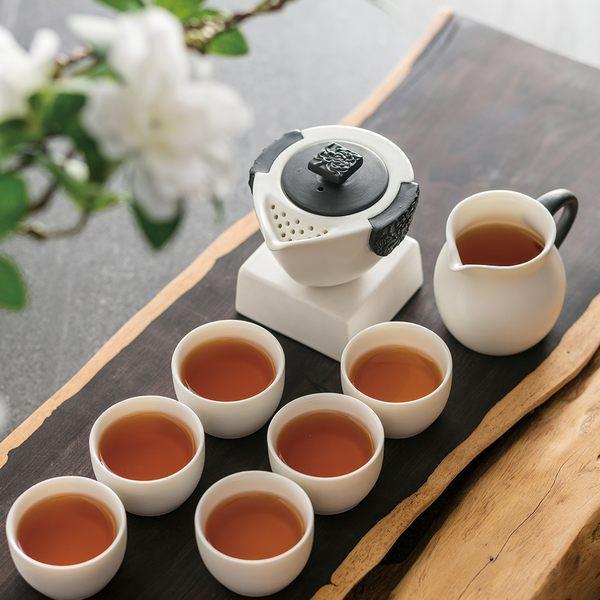 陸寶 東籬雅菊茶組 一壺一海六杯  虞姬與霸王的美麗故事