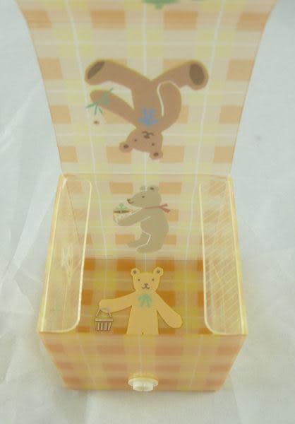 【震撼精品百貨】HONEY FIELD 熊~塑膠置物盒『格紋』