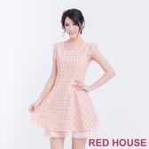 【RED HOUSE 蕾赫斯】蝴蝶結格紋背心洋裝(共2色)-單一特價