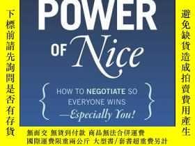 二手書博民逛書店The罕見Power of Nice: How to Negotiate So Everyone Wins - E