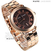 MARC JACOBS 精品錶 小秒盤簡約時尚 玫瑰金電鍍 不銹鋼帶 女錶 MJ3489