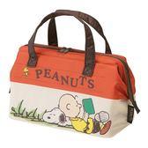史努比 便當袋 保溫 保冷 口金大開口 防水 手提袋 Snoopy 該該貝比日本精品 ☆