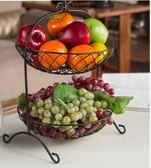 歐式創意兩層幹果水果盆LVV1579【KIKIKOKO】