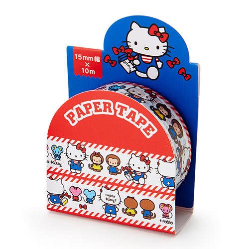 Sanrio HELLO KITTY 15mm紙膠帶(趣味好朋友)★funbox★ 075353N