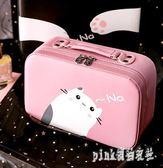 化妝包小號便攜可愛女大容量品網紅ins風超火收納盒箱手提隨身袋 aj10424『pink領袖衣社』