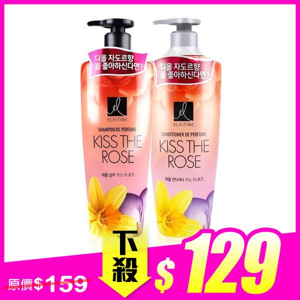 韓國 Elastine 香水洗髮精/潤髮乳 600mL ◆ 86小舖 ◆ 大馬士革玫瑰