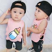 女童嬰兒童夏裝跨欄吊帶小背心套裝3夏季2女寶寶0歲新生兒1超薄款