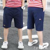 夏裝新款童裝兒童男童中大童中褲休閒短褲薄款外穿五分褲男 伊鞋本鋪