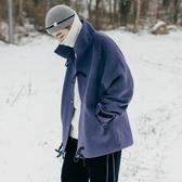 毛呢大衣 冬季氣質立領牛角扣毛呢大衣男士短款韓版呢子外套 小天後