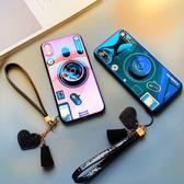【藍光相機殼】iPhone XR XS X XsMax 全包覆軟殼 相機支架 送愛心掛繩 復古風 手機殼 ig款手機套