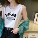 純棉吊帶背心女內搭外穿潮ins網紅無袖T恤寬鬆設計感小眾上衣夏天
