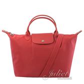 茱麗葉精品【全新現貨】 Longchamp Le Pliage Neo折疊厚尼龍兩用包.正紅 #1515
