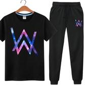 夜光Alan walker衣服艾倫沃克faded同款電音DJ短袖t恤小腳褲套裝 小宅女