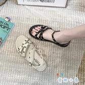 平底涼鞋女夏季休閒百搭女鞋學生羅馬百搭【奇趣小屋】
