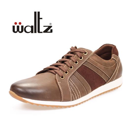 Waltz-真皮運動休閒鞋 622070-03(深咖)