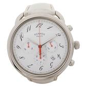 HERMES 愛馬仕 ARCEAU Chrono 白色牛皮腕錶 AR4.910【二手名牌 BRAND OFF】