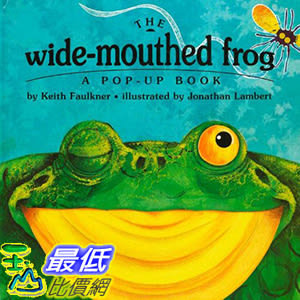 [106美國直購] 2017美國暢銷兒童書 The Wide-Mouthed Frog (A Pop-Up Book) Library Binding