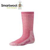 【美國 SmartWool 童健行中級避震中長襪《牡丹紅》】SW0SW190/保暖/戶外/運動襪