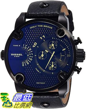 [8東京直購] TOKYO-ZW Diesel Men s 52mm Chronograph Black Leather Mineral Glass Quartz Watch DZ7257 手錶