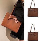 手提包 ins小眾設計秋冬款大包包女包2021新款單肩通勤包褶皺手提托特包