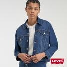 Levis 女款 牛仔外套 / Boyriend寬鬆版型 / COOL輕彈涼爽 / 中藍基本款