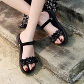 涼拖鞋兩穿女新款夏季時尚外穿港風百搭厚底chic鞋拖女鞋   小時光生活館