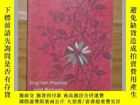 二手書博民逛書店英文原版罕見English Poems and Ballads