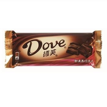 Dove德芙香濃黑巧克力 (80g/條)【合迷雅好物超級商城】