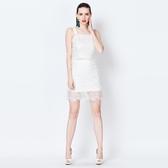 吊帶無袖上衣+短裙(兩件套)-優雅蕾絲新款春裝女裙裝73lk10【巴黎精品】