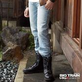 BIG TRAIN 經典小直筒-男-淺藍