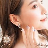 耳環 韓國直送水鑽星星925銀針耳環-Ruby s 露比午茶