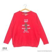 【INI】青春溫暖、舒適棉好感長袖上衣.紅色