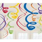 螺旋吊飾12入-彩虹