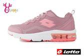 LOTTO樂得 義大利 女款 FLUX 避震氣墊跑鞋 網布運動鞋 慢跑鞋 M8610#粉紅◆OSOME奧森童鞋