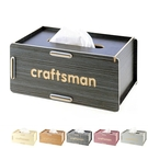 時尚面紙盒 高級木質衛生紙盒 多用途收納...
