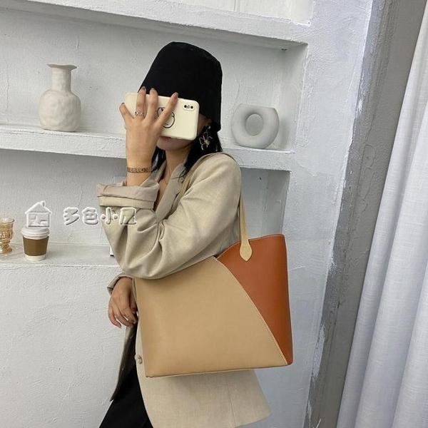 大容量包包女包新款潮秋季網紅時尚手提單肩包學生百搭托特包2月7日發完 快速出貨