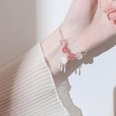 冷淡風ins風捕夢網手鏈女銀韓版草莓晶簡約學生森系閨蜜小眾設計