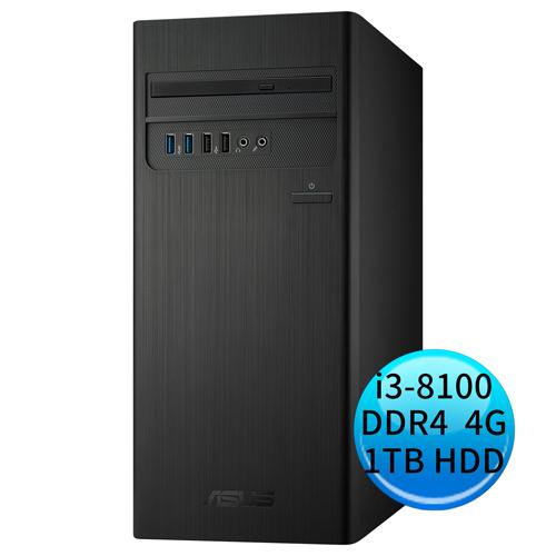 ASUS 華碩 H-S340MC-I38100025T 桌上型套裝電腦 (i3-8100/4G/1TB/DVDRW/WIN10)