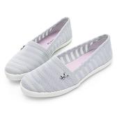PLAYBOY 優雅步調 蕾絲風格懶人鞋-灰(Y6207)
