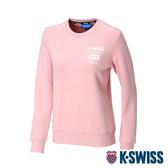 K-SWISS 1966 Sweatshirt圓領長袖上衣-女-粉紅