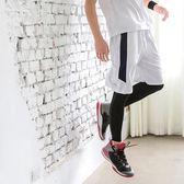 《KS0410-》色塊造型腰鬆緊運動短褲 OB嚴選