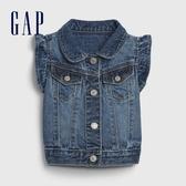 Gap女嬰時尚水洗無袖牛仔外套580536-中度水洗