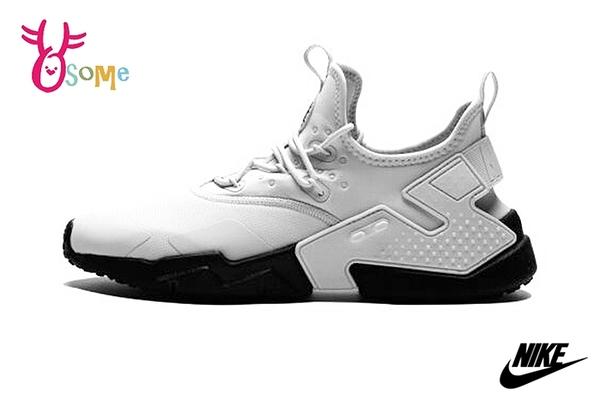 NIKE武士鞋 男鞋AIR HUARACHE DRIFT武士鞋 運動鞋 休閒運動鞋 套入式P7025#白灰