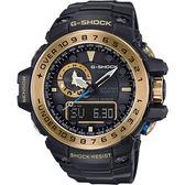 CASIO卡西歐 G-SHOCK MASTER 海軍上將太陽能電波手錶-古銅金 GWN-1000GB-1A / GWN-1000GB-1ADR