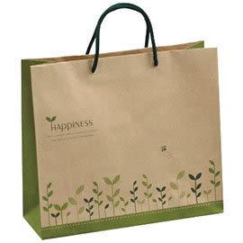 《荷包袋》手提紙袋 大3K 赤牛 草本綠