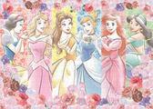 【拼圖總動員 PUZZLE STORY】迪士尼六公主 日本進口拼圖/Epoch/500P/布面