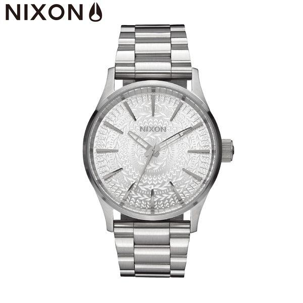 NIXON手錶 原廠總代理A450-2129 THE SENTRY 38 SS 銀色 潮流時尚鋼錶帶 男女 運動 生日情人節禮物