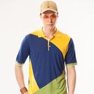 *86精品* 藍色線衫藍綠黃展現硬派型男成熟魅力設計男裝【86747-70】