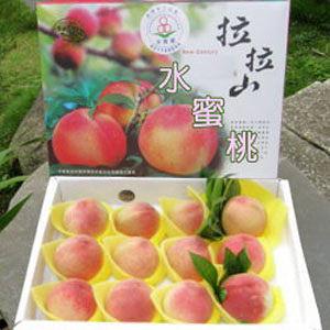(6/10後出貨)復興鄉拉拉山水蜜桃禮盒/10粒裝◆新鮮多汁